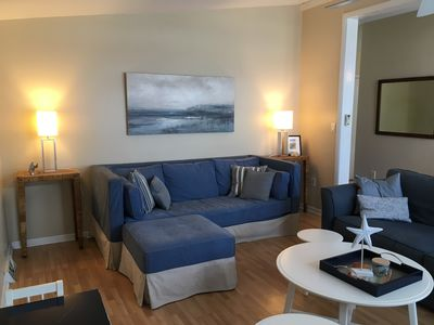 Photo for One block to the beach, pet-friendly, fully furnished beach house -- Sun to Sun