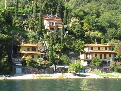 Photo for Renovated house on the lake in 2018, plot with direct beach access in Limonta,