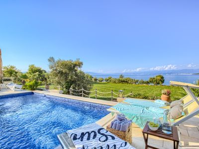 Photo for Luxurious seafront villa with pool on Island Krk