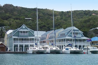 The stunningly beautiful Marina Village, as viewed from the water