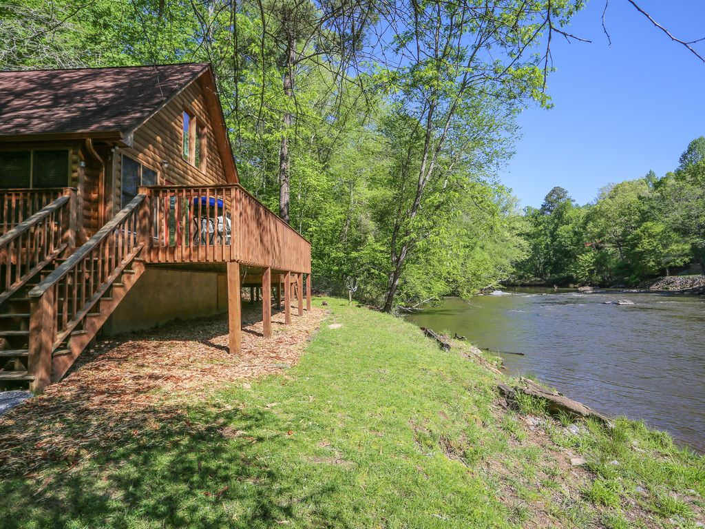 Ellijay River Cabin On The Rushing Coosawat Vrbo