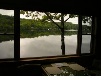 Lake view from living room