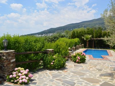 Photo for VILLA WITH JACUZZI, SWIMMINGPOOL AND PRIVATE GARDEN IN LA ALPUJARRA