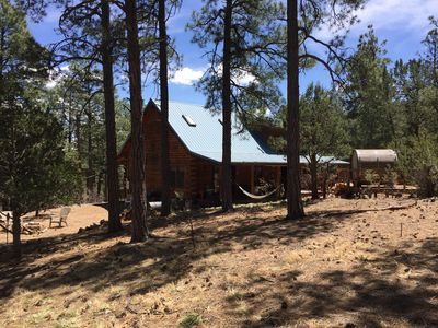 You can hear the whispering ponderosa pines