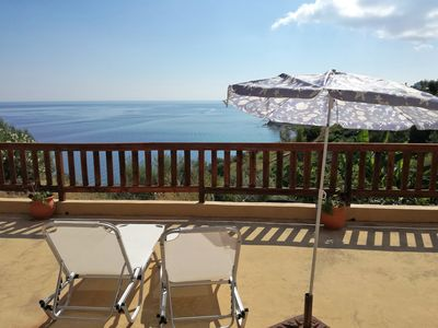 Photo for Apartment for 2/3 people with beautiful sea view and large veranda