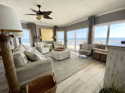 Large living area, beautiful views of the Gulf of Mexico and Orange Beach