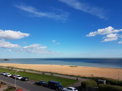 Photo for Amazing sea view and overlooking the beach. Very close to Deal Castle and Town