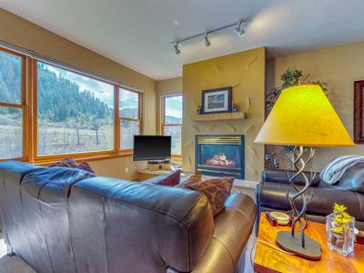 Photo for Ski-in/ski-out waterfront townhome w/ shared hot tub & balcony