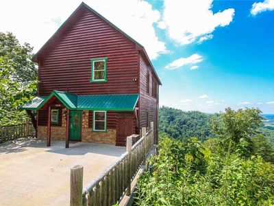 Photo for Stay at Panoramic Point!| Panoramic Mountain View| Theater Room| Game Room Loft| Community Pool