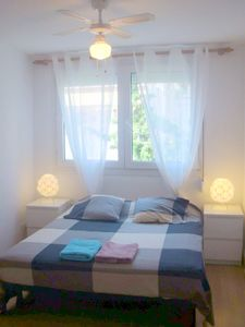 Photo for Sitges centre. Free Wifi. Bright, large kitchen, 20 meters beach. Very calm