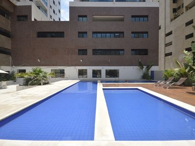 Photo for Flat with Gourmet Balcony, Total Leisure in Quadra do Mar, Air Conditioning, 2 Spaces