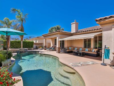 Photo for Exclusive Palm Desert Lifestyle - Private Pool/Spa & Golf Course view! Perfect for Families.