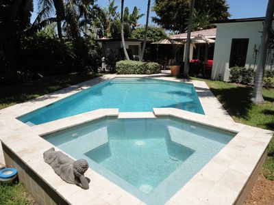 Photo for Private updated Oasis with Heated Pool and Hot Tub