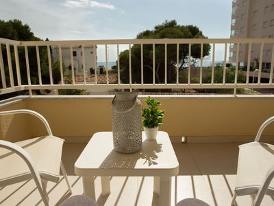 Photo for Apartment with large terrace in 2nd line beach Arenal
