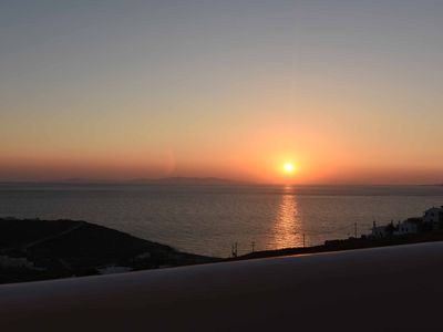 Photo for Beautiful house in Mykonos with sea view and amazing sunset
