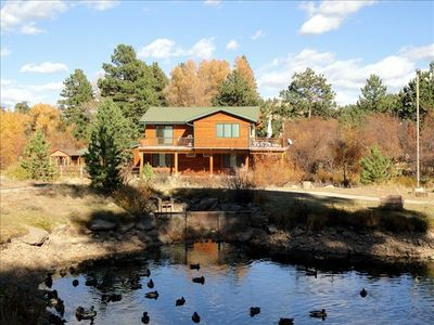 Our beautiful home from across the Big Thompson River.