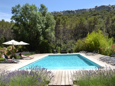 Photo for Magnificent Bastide in the heart of alpilles, quiet absolute, exceptional position, private Tennis, Swimming pool warmed 7 rooms 4 bathrooms