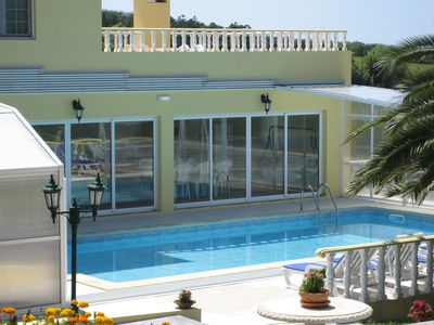 Photo for Fantastic private heated pool and stunning view from the terrace !!
