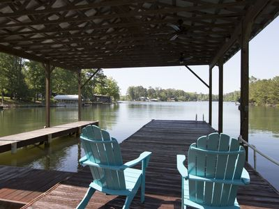 Photo for Paradise on Lake Martin! BRAND NEW beautiful house and boat house.