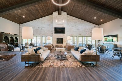 This brand new, luxury lodge is decorated with high-end furniture and decor.