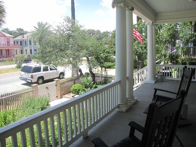 Our front porch is the perfect place to perch and take in the island breezes.