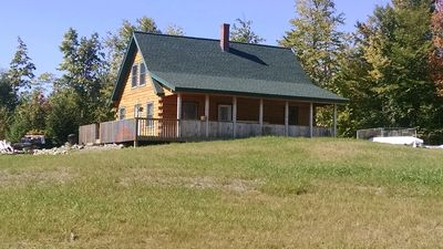 Photo for Not your average log cabin in the woods of Maine! Has all the privacy you want