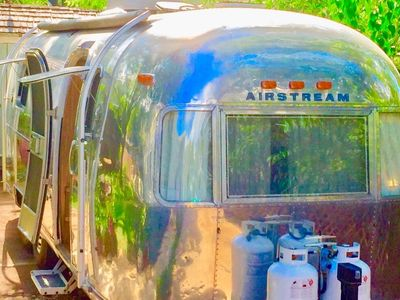 Photo for Vintage Airstream walkable to Food, Fun, Hike-Bike Trails, Mozart's on the Lake