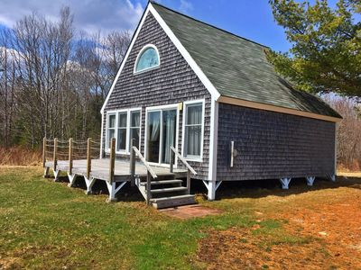 Photo for Three bedroom knotty pine Chalet with wonderful panoramic views of Flanders Bay