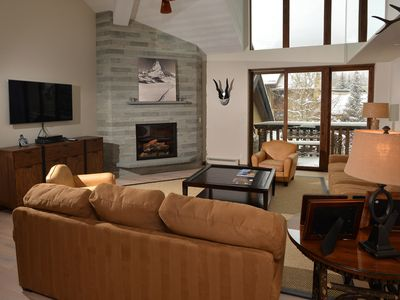 Photo for Vail Village, mountain views, Sebastian pool access, spa, mountain modern decor