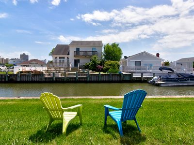 Photo for Family-friendly, waterfront condo w/ patio, shared pool & bay view