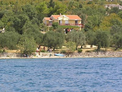 Photo for Holiday house in sole location for sole use directly on the private beach