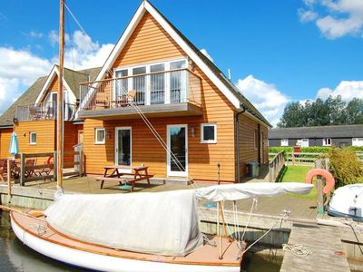 Photo for Holiday residence on the water with docking space for two boats