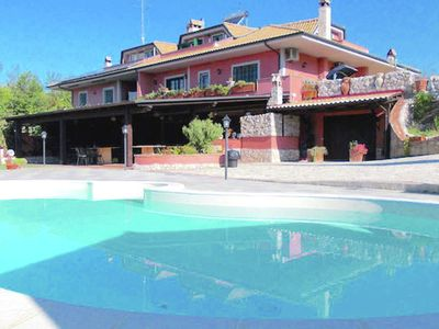 Photo for Swimming pool, close to Rome, in the Rome countryside, WiFi