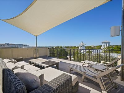 Photo for Luxury Townhome in Seaside, Rooftop Deck w/Gulf Views!