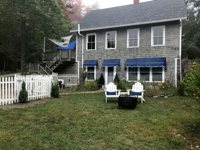 Photo for Chic Farmhouse Guest Cottage, ROW to private beach, WiFi, A/C, Netflix