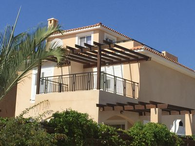 Photo for Luxury 4 bed Villa. Heated pool. Sea Views. Wifi. No car needed.