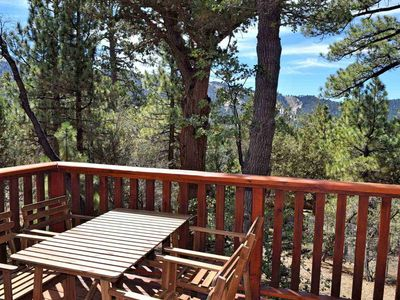 Photo for A Cabin With A View: Fireplace! Slope Views! Deck! Cable TV! Upgraded Kitchen!