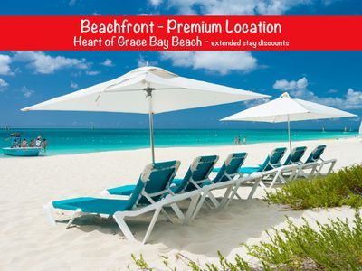 Photo for Oceanfront 2 BR Condo, Heart of Grace Bay Beach, 10% Discount 7 nights *