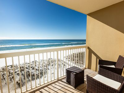 Photo for 5th floor condo w/private patio, community pool and ocean views