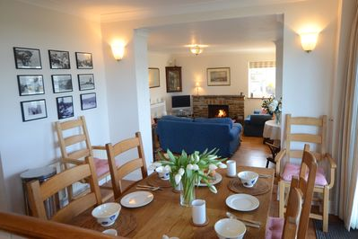 Open plan kitchen, living & dining area