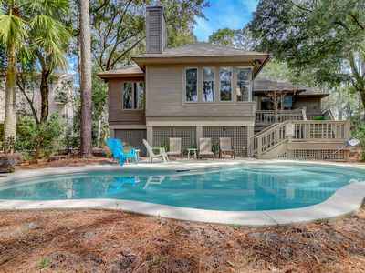 Photo for Stylish Home w/ Private Pool, 2 Living Rooms, Lagoon Views — Walk to Beach!