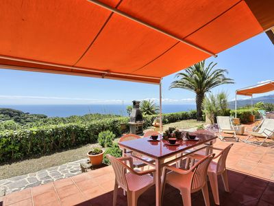 Photo for Apartment with sea view - Villa Soprana Trilo B