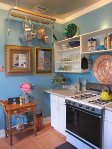 Bright and eclectic, this kitchen has everything you need!