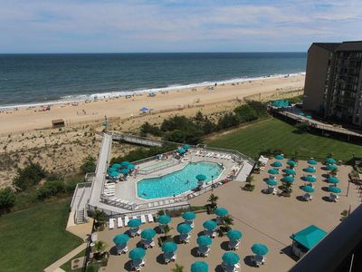 Photo for 904N: 2BR Sea Colony oceanfront condo | Private beach, pools, tennis ...