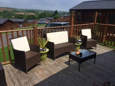 Photo for 2018 bookings available! Luxury Holiday Lodge with Sun deck on 5* Park