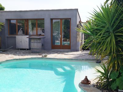Photo for in a village Hérault, house with private pool.