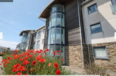 Photo for 2 bed room apartment with fistral beach sea views, parking, wifi, lift access