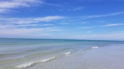 White sand and clear water at Honeymoon Island State Park <20 min