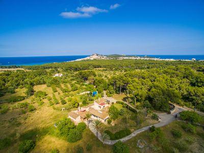 Photo for Rustic finca in a prime location with sea views near Cala Radijada