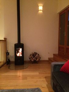 Woodburning stove in Living area